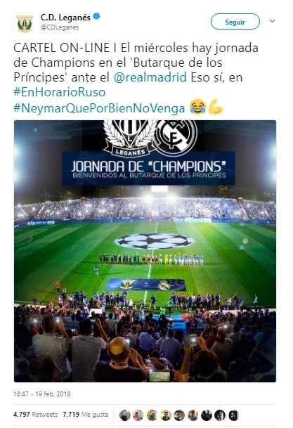 Leganes Real Madrid Redes Sociales